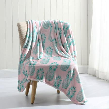 MHF Home Tropical Plush Throw Blanket ()