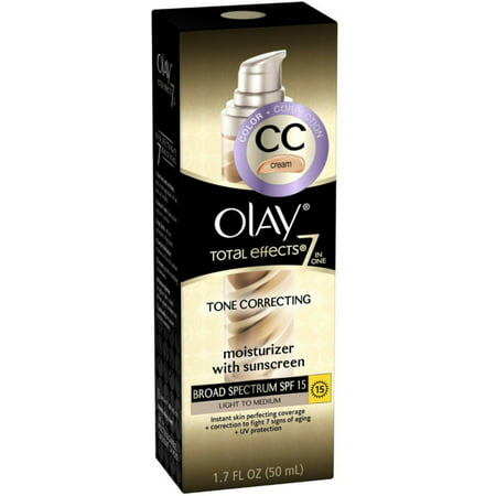 OLAY Total Effects 7-in-1 Tone Correcting Moisturizer, SPF 15, Light to Medium 1.7 (Tone Effects)