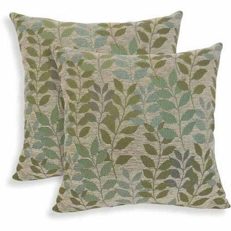Fabian Chenille Leaf Toss Pillow, Set of 2