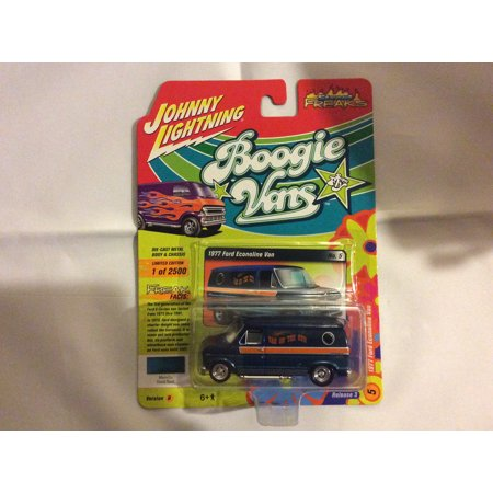 1985 85 Ford E250 Van - Johnny Lightning 1:64 Street Freaks Ver B 1977 Ford Econoline Van Dark Teal