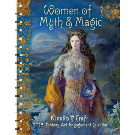 2018 women of myth and magic engagement calendar fantasy art by amber lotus