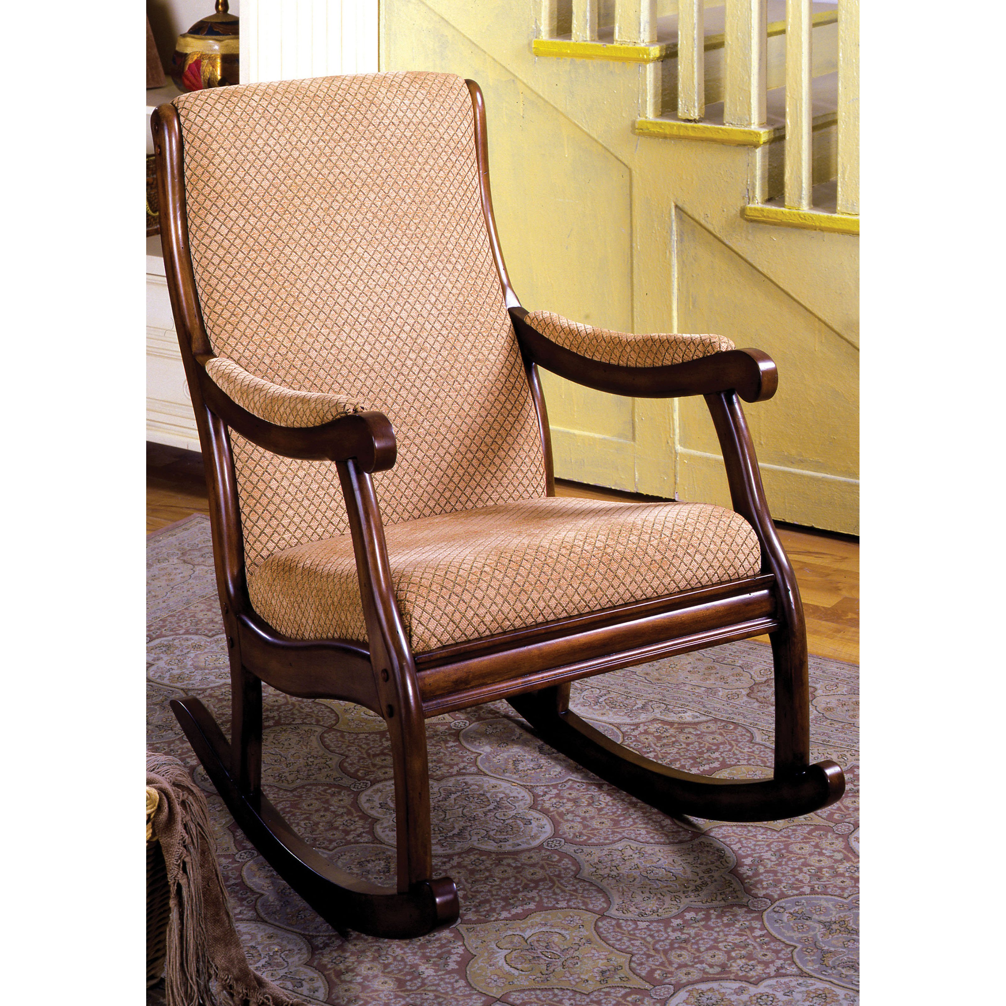 Furniture of America Bernardette Upholstered Rocking Chair by Enitial Lab