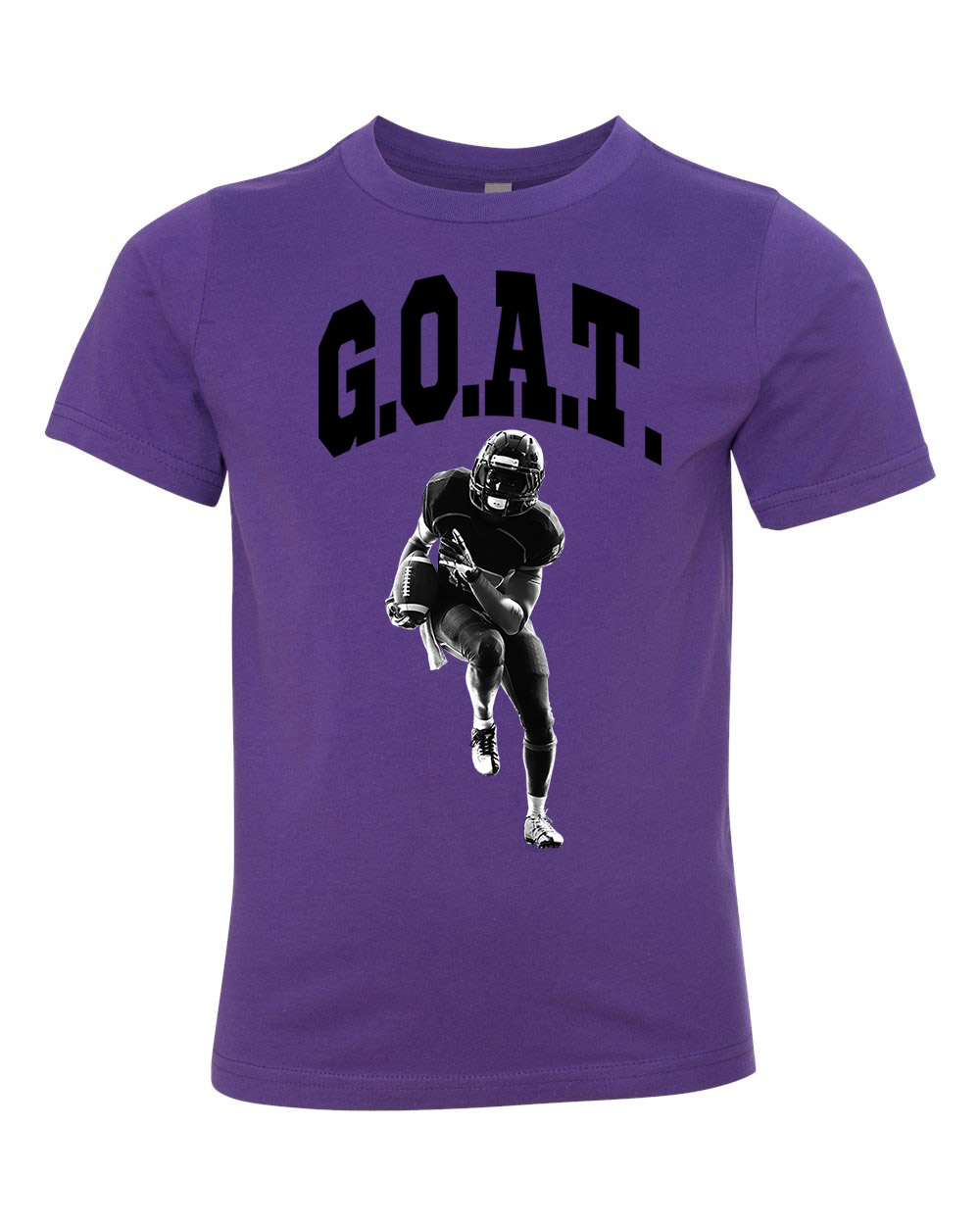 Greatest Of All Times G.O.A.T Football Youth Short Sleeve T-Shirt