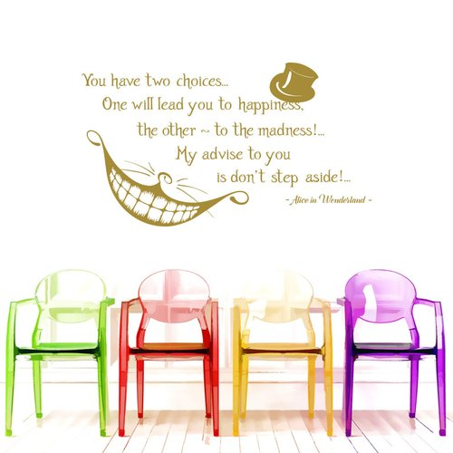 Decal House Alice Quote Wall Decal