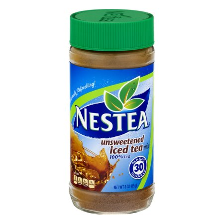 (4 Pack) Nestea Unsweetened Iced Tea Mix, 3 Oz, 1 Count
