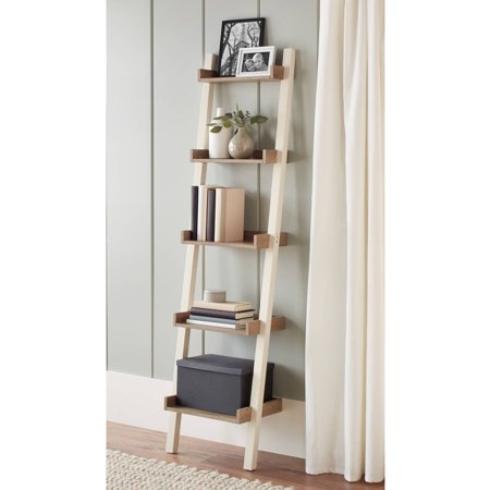 Better Homes and Gardens Bedford 5 Shelf Narrow Leaning Bookcase, Multiple Colors