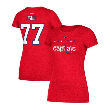 super popular ecba3 6890c T.J. Oshie Reebok Washington Capitals Player Red Jersey T-Shirt Women's