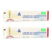 Fair & White Cream Eclaircissante Whitening Cream, Removes Skin Blemishes, Vibrant Complexion, (2-Pack)