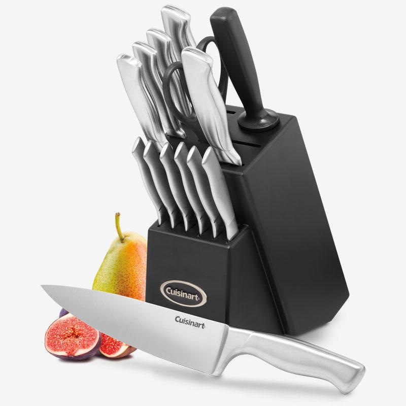 Cuisinart - 15-Piece Stainless Steel Knife Block Set