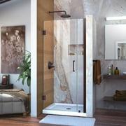 DreamLine Unidoor 32-33 in. W x 72 in. H Frameless Hinged Shower Door in Oil Rubbed Bronze