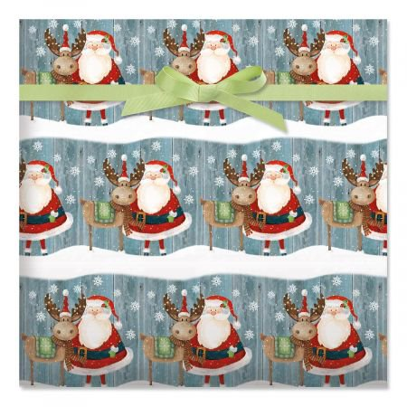 Christmas Chums Jumbo Rolled Gift Wrap- 72 sq ft.