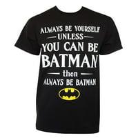 Batman Men's Black Always Be Yourself T-Shirt-Small