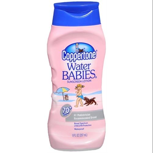 Coppertone Water Babies Sunscreen Lotion SPF 70+ 8 oz (Pack of 2)