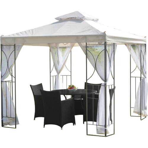 SunTime Outdoor Living Polenza 8 Ft. W X 8 Ft. D Metal Patio Gazebo
