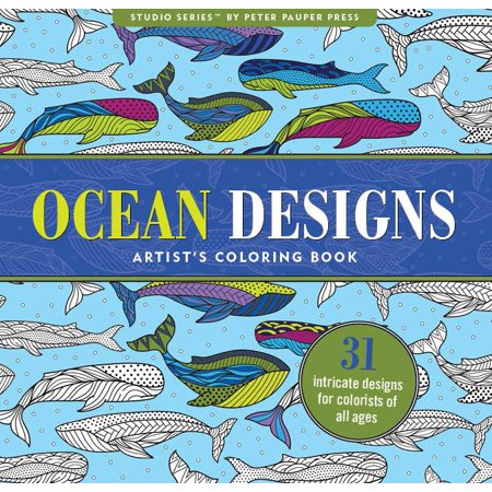 Ocean Designs Adult Coloring Book: 31 Stress-Relieving Designs (Paperback) - Halloween Coloring Pages Printable Adults