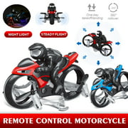 Amerteer Rc Cars,Flying Motorcycle RC Drone Land Air Motorcycle Aircraft Remote Control Four-axis Drone 360 °Stunt Roll Racing Motorcycle Kids Flying Toys 2.4G RC Drone for Children, Boys Girls