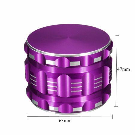 "4 2.5"" Layers Aluminum Alloy Drum Grinder Hand Muller Smoke Herbal Herb  - image 4 of 7"