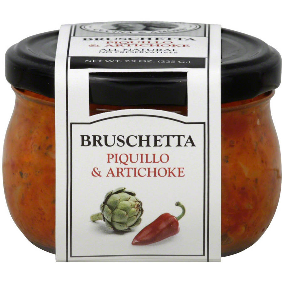 Cucina & Amore Piquillo & Artichoke Bruschetta, 7.9 oz, (Pack of 6) by