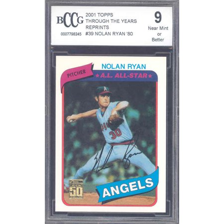 2002 Topps 1952 Reprints - 2001 topps through the years reprints #39 NOLAN RYAN '80 astros BGS BCCG 9