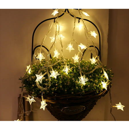 Peroptimist LED String Lights, Mini Star Christmas Light, Battery Operated Star/Snowflake String Lights Indoor/Outdoor Festival Lights for Christmas Party Decor ()