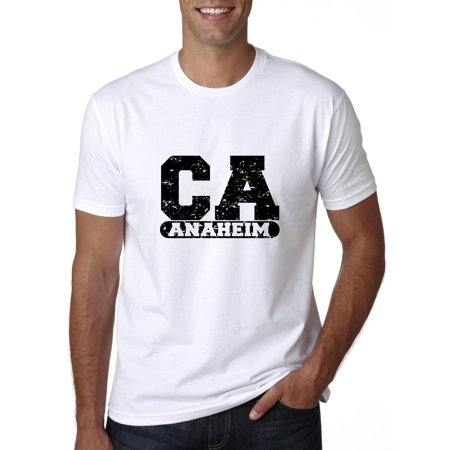 Anaheim, California CA Classic City State Sign Men's T-Shirt](Anaheim City)