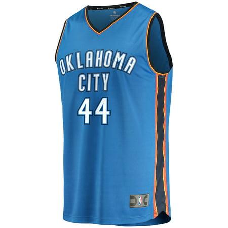 Fanatics Branded Men's Oklahoma City Thunder Dakari Johnson ZCD & F Blue  Fast Break Player Jersey