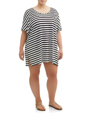 c3d9e1b14c Product Image Women's Plus Size Stripe Dolman Cover-Up