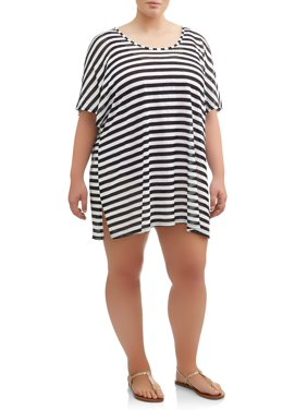 bc5221440eaf8 Product Image Women's Plus Size Stripe Dolman Cover-Up