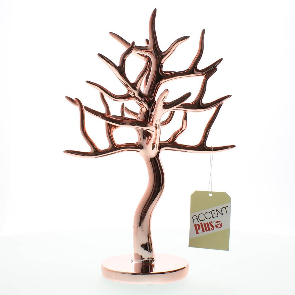 Accent Plus Jewelry Stand Tree Jewelry Necklaces Earring Holder Rose Gold Jewelry Tree Walmart Com Walmart Com