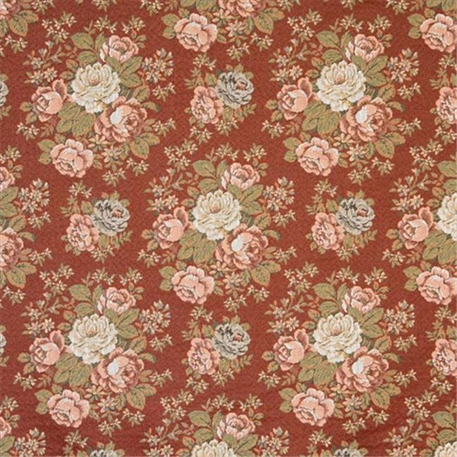 Designer Fabrics F930 54 inch Wide Red, Blue And Green, Floral Tapestry Upholstery Fabric