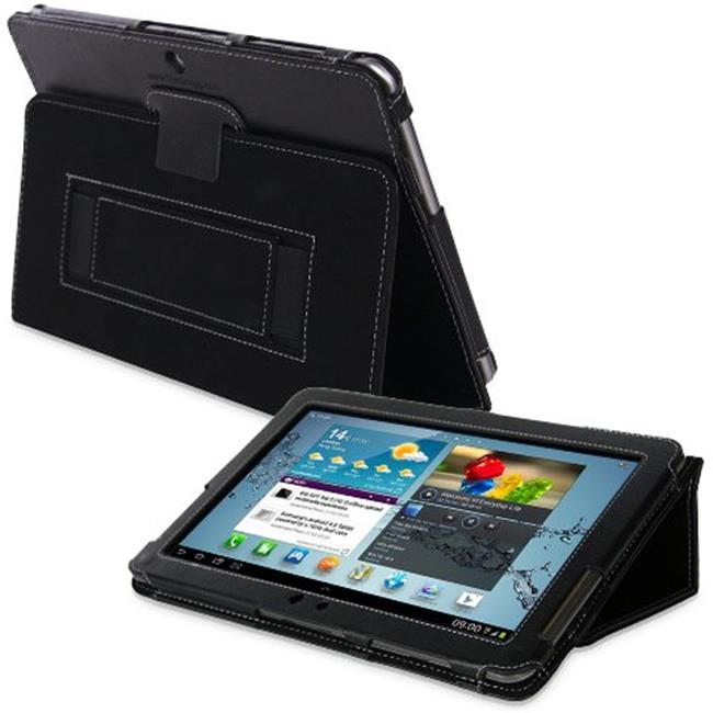 Snugg B008J23PUI Galaxy Tab 2 10. 1 Case Cover and Flip Stand, Black PU Leather