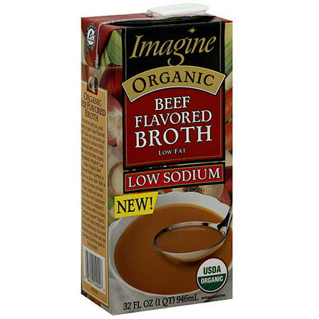 Imagine Foods Organic Low Sodium Beef Broth, 32 oz (Pack of