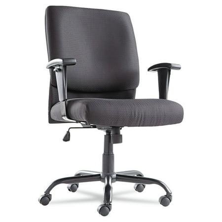 Fabric Swivel Tilt Chair (OIF Big and Tall Mid-Back Swivel/Tilt Chair, Fabric, Black )