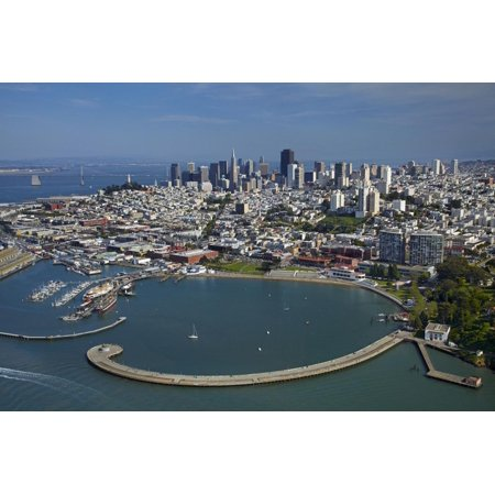 California, San Francisco, Pier and Maritime Historical Park, Aerial Print Wall Art By David Wall ()