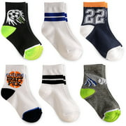 Garanimals Baby Toddler Boy Sports Crew Socks, 6-Pack