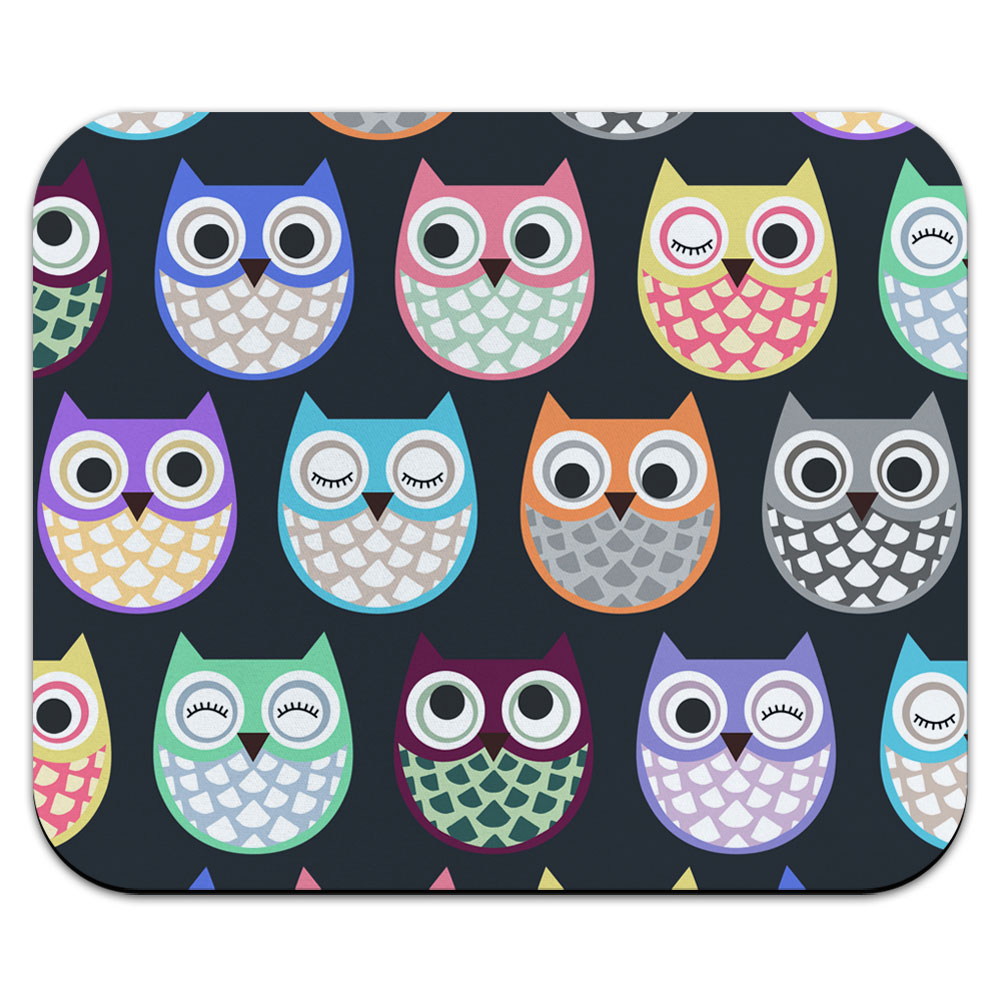 Cute Owls - Owl Pattern Mouse Pad