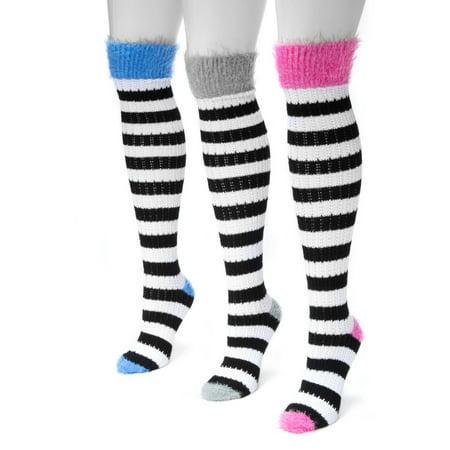 Pointelle Knee Socks (Women's Pointelle Stripe Knee High Socks 7 x 3.5)