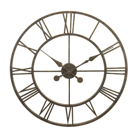 river city clocks indoor antiqued metal skeleton tower 30 in wall clock. Black Bedroom Furniture Sets. Home Design Ideas