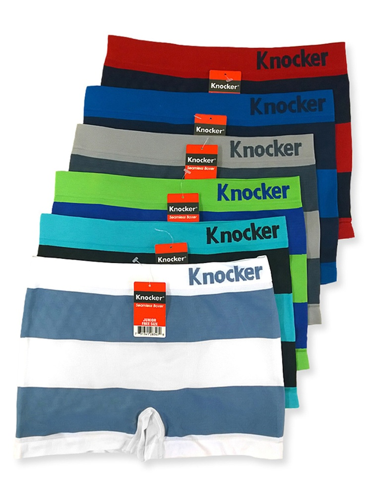 Uni Style Apparel Junior Boys Seamless Boxer Briefs 6 Pack One Size