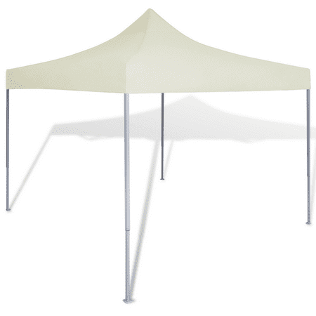 Outdoor Tent 10' x 10' Foldable Canopy Gazebo - Cream