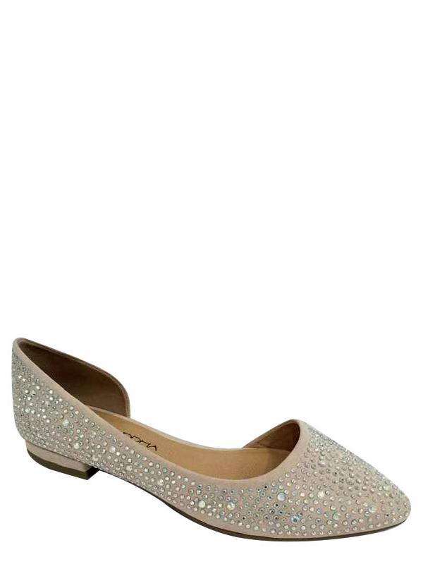 Big Buddha Women's Jeweled Almond Toe Shoe