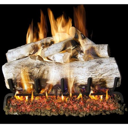 Peterson G4 Burner (Peterson Real Fyre 24-inch Mountain Birch Log Set With Vented Propane G4 Burner - Manual Safety)