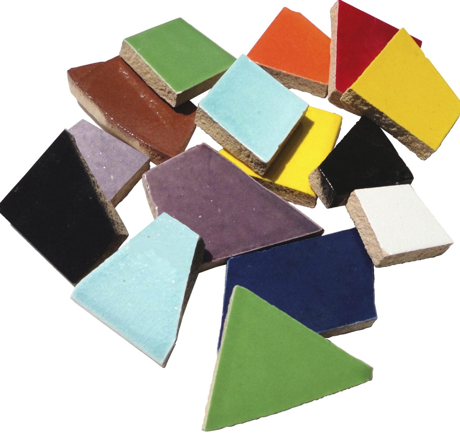 Mosaic Mercantile Ceramic Crafters Cut, Assorted Colors, 1 lb