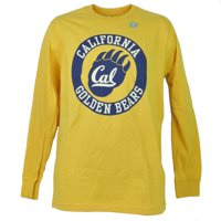 NCAA California Golden Bears Long Sleeve Tshirt Tee Mens Adult Crew Neck Medium