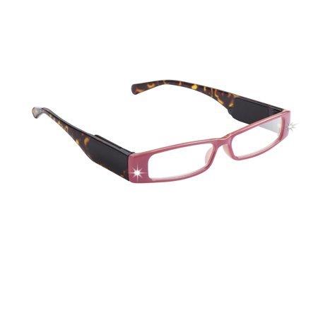 LightSpecs LightPipe Reading Glasses with LED Lights, Doe Eye +1.50 (Power Glass For Eye)