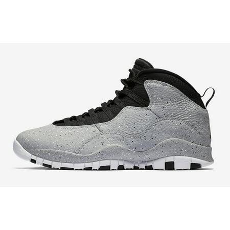 premium selection 1b126 b5e7b Mens Air Jordan X 10 Retro Cement Light Smoke Grey Black University Re