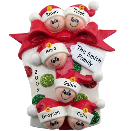 Glitter Gift Family 6 Personalized Christmas Ornament DO-IT-YOURSELF