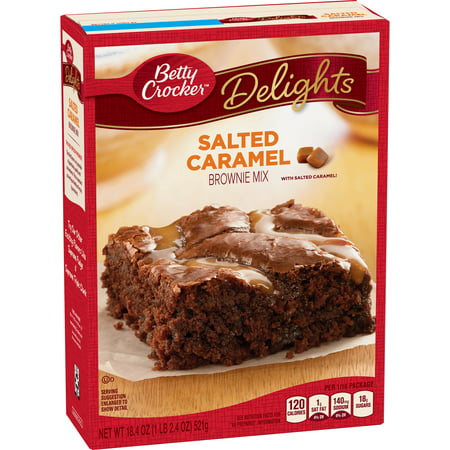 - (4 Pack) Betty Crocker Delights Salted Caramel Brownie Mix, 18.4 oz