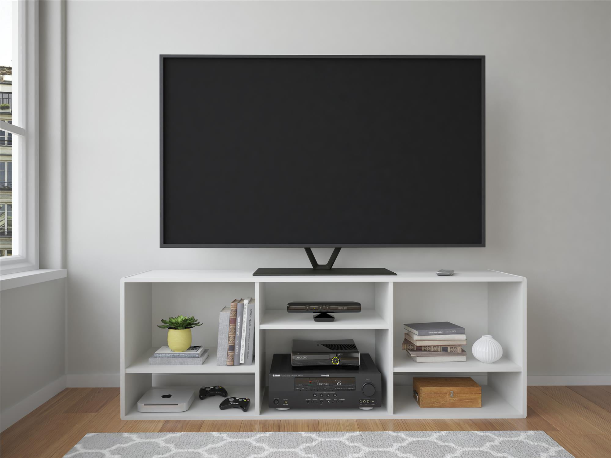 """TV Stand or Bookcase Combo, For TV's up to 60"""", White - Walmart"""