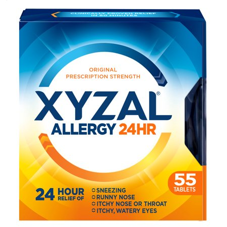 Xyzal 24hr Allergy Relief Antihistamine Tablets, 55ct